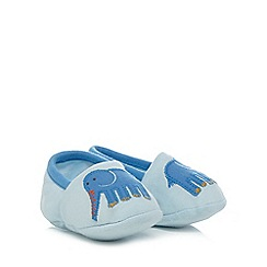 bluezoo - Baby boys' blue elephant applique slippers