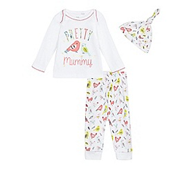 bluezoo - Baby girls' white bird print set