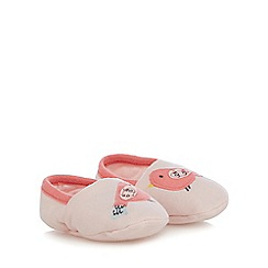 bluezoo - Baby girls' pink bird applique booties