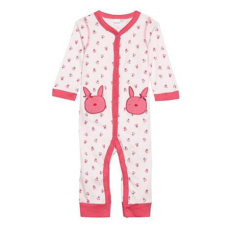 bluezoo - Babies pink floral sleepsuit