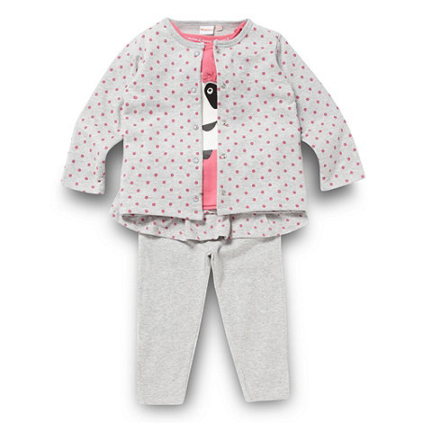 bluezoo - Babies grey panda three piece set