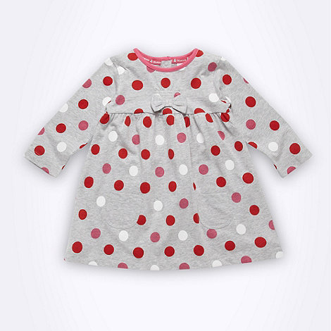 bluezoo - Babies grey spotted jersey dress