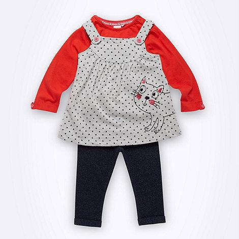 bluezoo - Babies long sleeved top, tunic and leggings set