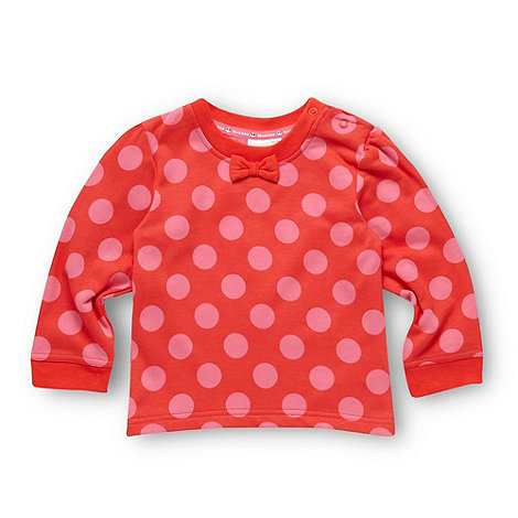 bluezoo - Babies pink spotted sweat top