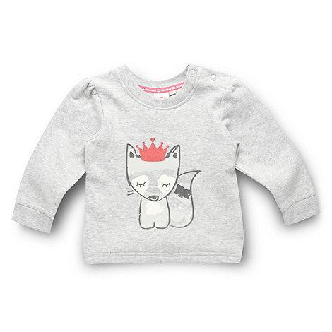 bluezoo - Babies grey racoon printed sweatshirt