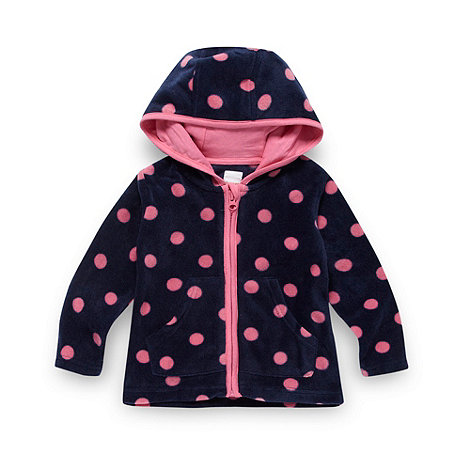 bluezoo - Babies pink spotted fleece jacket