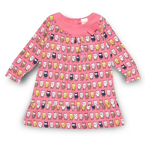 bluezoo - Babies pink owl patterned A-line dress