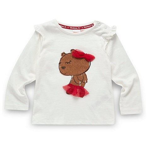 bluezoo - Babies cream ballet bear print top
