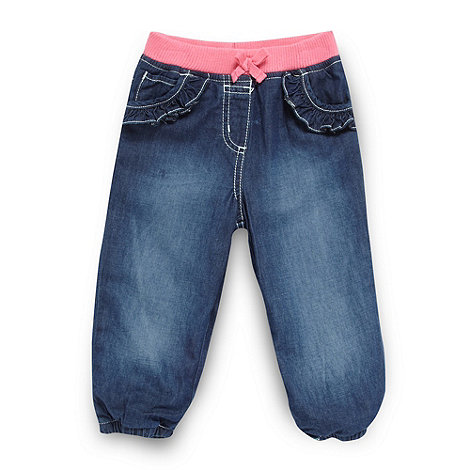 bluezoo - Babies blue frilly pocket jeans