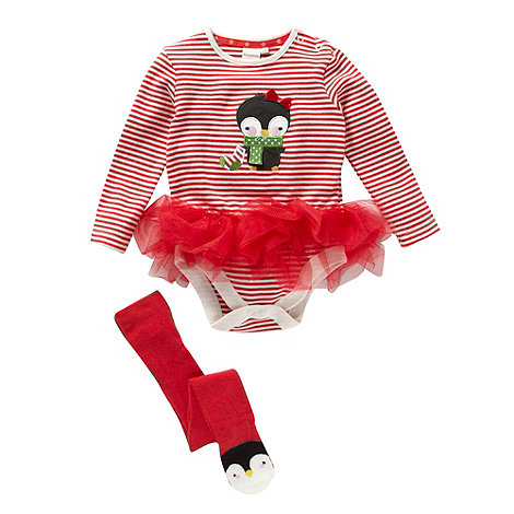 bluezoo - Babies red tutu suit and tights