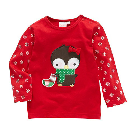 bluezoo - Babies red penguin top