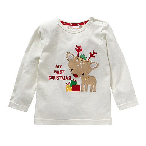 bluezoo - Babies cream reindeer top
