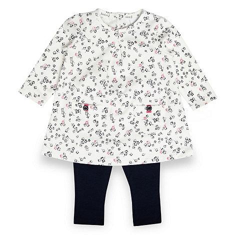 J by Jasper Conran - Designer babies navy floral tunic and leggings set