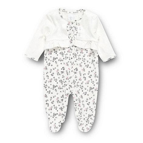 J by Jasper Conran - Designer babies cream floral sleepsuit