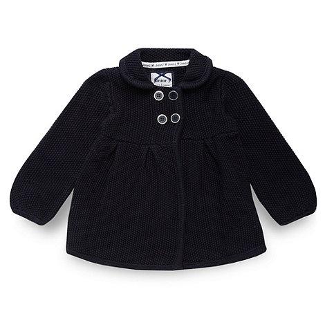J by Jasper Conran - Designer babies navy knit cardigan
