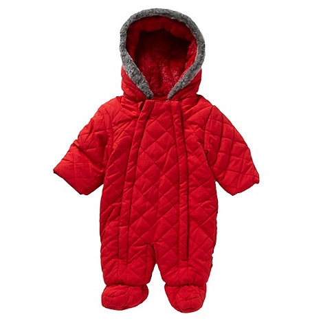 J by Jasper Conran - Designer babies red quilted snowsuit