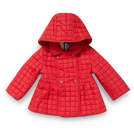 J by Jasper Conran - Designer babies red quilted coat