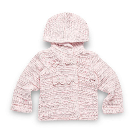 J by Jasper Conran - Designer babies pale pink chunky knit cardigan