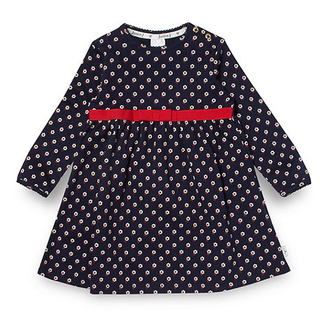J by Jasper Conran - Designer babies navy floral jersey dress