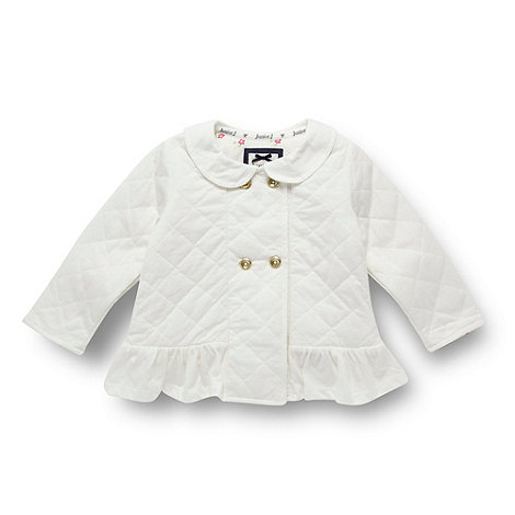 J by Jasper Conran - Designer babies white quilted jacket