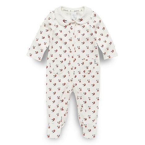 J by Jasper Conran - Designer babies cream floral printed sleepsuit