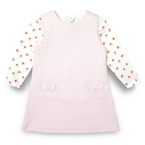 J by Jasper Conran - Designer babies pink quilted pinafore set