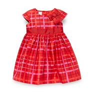Designer babies red checked dress