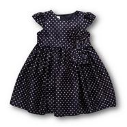 Designer babies navy spotted party dress
