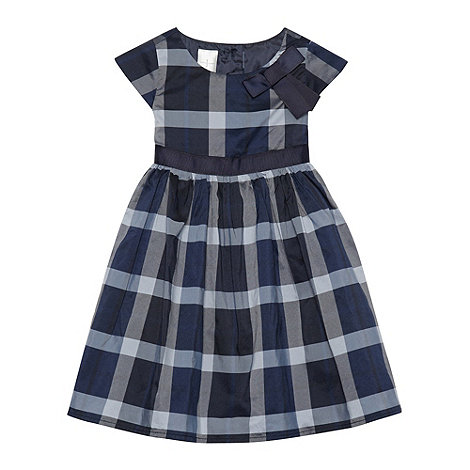 J by Jasper Conran - Designer babies navy checked bow dress