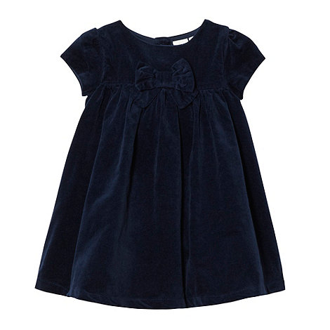 J by Jasper Conran - Designer babies navy cord bow dress