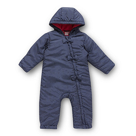 bluezoo - Babies navy spotted snow suit