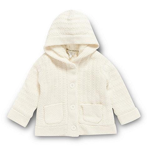 RJR.John Rocha - Designer babies cream borg fleece lined cardigan
