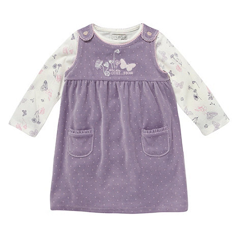 RJR.John Rocha - Designer babies lilac butterfly pinafore set
