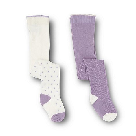 RJR.John Rocha - Designer babies pack of two lilac tights