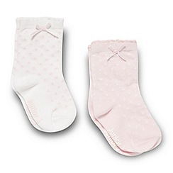 J by Jasper Conran - Designer babies pack of two pink spotted socks