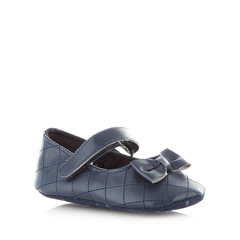 J by Jasper Conran - Designer babies navy quilted shoes