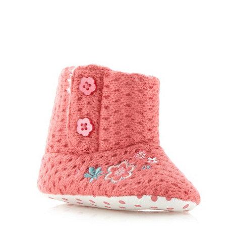 RJR.John Rocha - Designer babies pink knitted booties