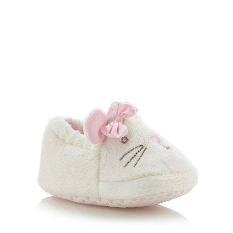 bluezoo - Babies off white mouse slippers