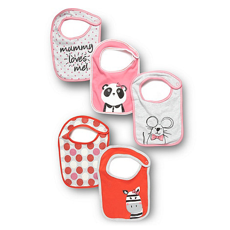 bluezoo - Babies pack of five patterned jersey bibs