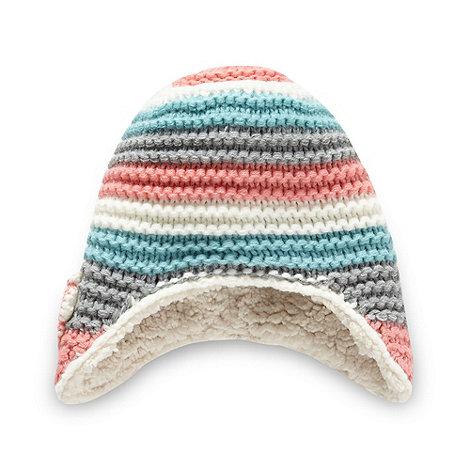 RJR.John Rocha - Designer babies pink multi striped trapper hat