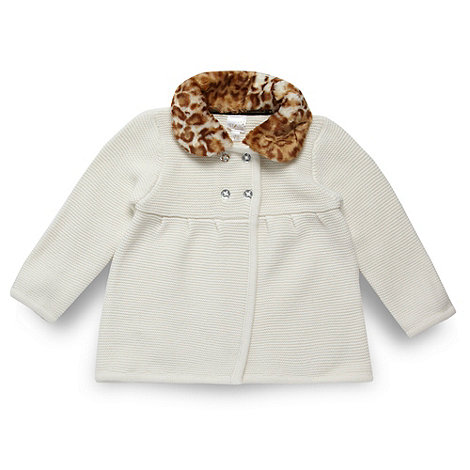 Star by Julien Macdonald - Designer babies cream animal collar cardigan