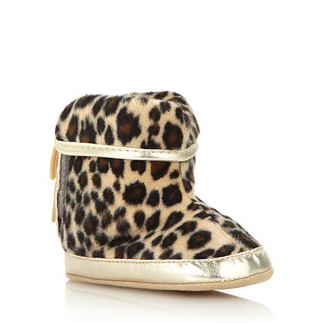 Star by Julien Macdonald - Designer babies brown faux fur leopard boots