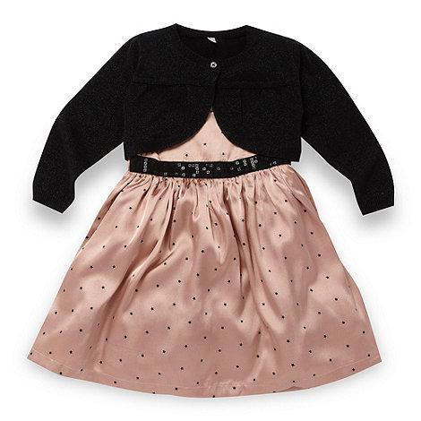 Star by Julien Macdonald - Designer girl+s pink star printed dress and cardigan