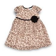 Designer babies brown animal dress