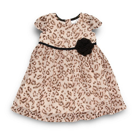 Star by Julien Macdonald - Designer babies brown animal dress