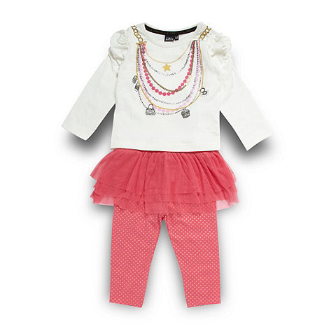 Star by Julien Macdonald - Designer babies pink necklace t-shirt, tutu and leggings