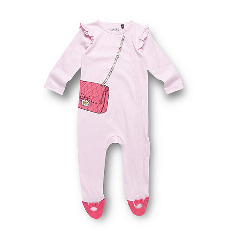 Star by Julien Macdonald - Designer babies pink one romper suit