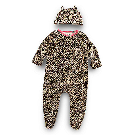 Star by Julien Macdonald - Designer babies animal print romper set