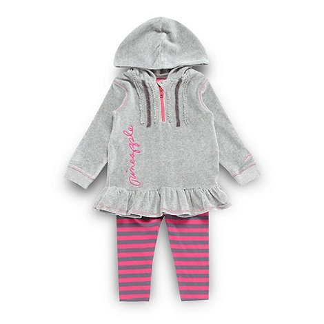 Pineapple - Girl+s grey hooded tunic and leggings