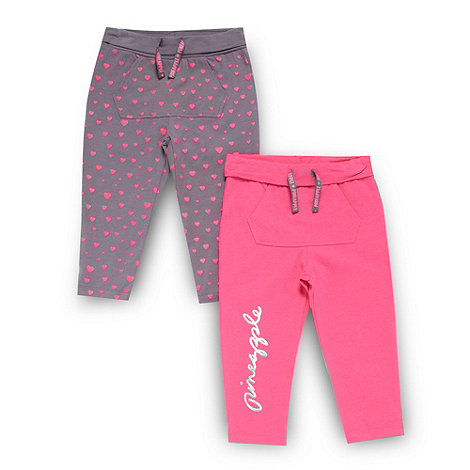 Pineapple - Set of two girl+s pink leggings